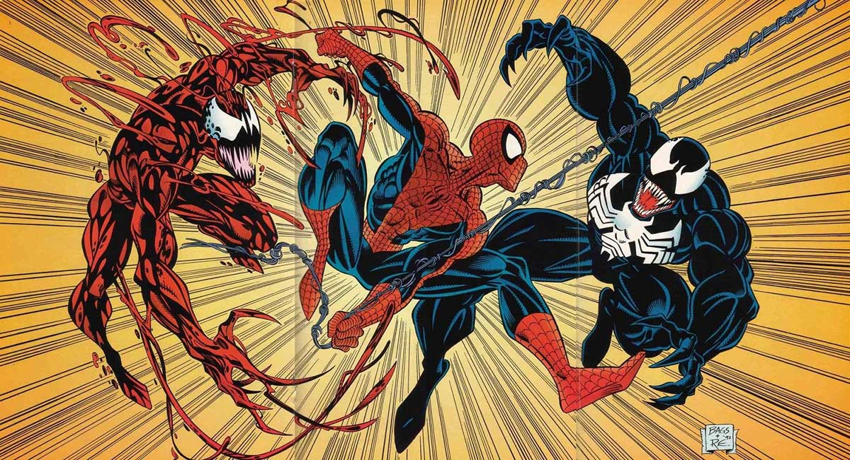 Carnage, Spiderman & Venom from Marvel Comics